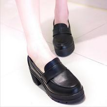 Uniform Shoes Uwabaki Japanese JK Women Girls School Students Lolita Shoes Black Red Beige Cosplay Shoes for Adult