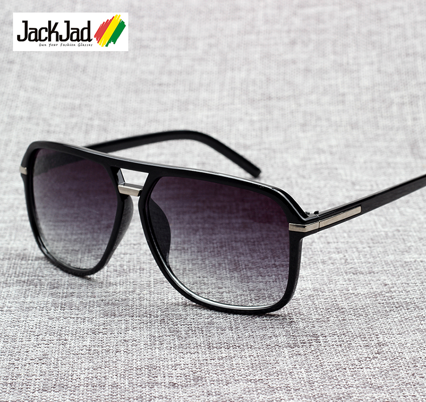 JackJad 2019 Fashion Men Cool Square Style Gradient Sunglasses Driving Vintage Brand Design Cheap Sun Glasses Oculos De Sol 1155(China)