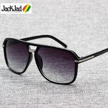 JackJad Модные мужские крутые квадратные стильные градиентные солнцезащитные очки для вождения, винтажные брендовые дизайнерские дешевые солнцезащитные очки Oculos De Sol 1155