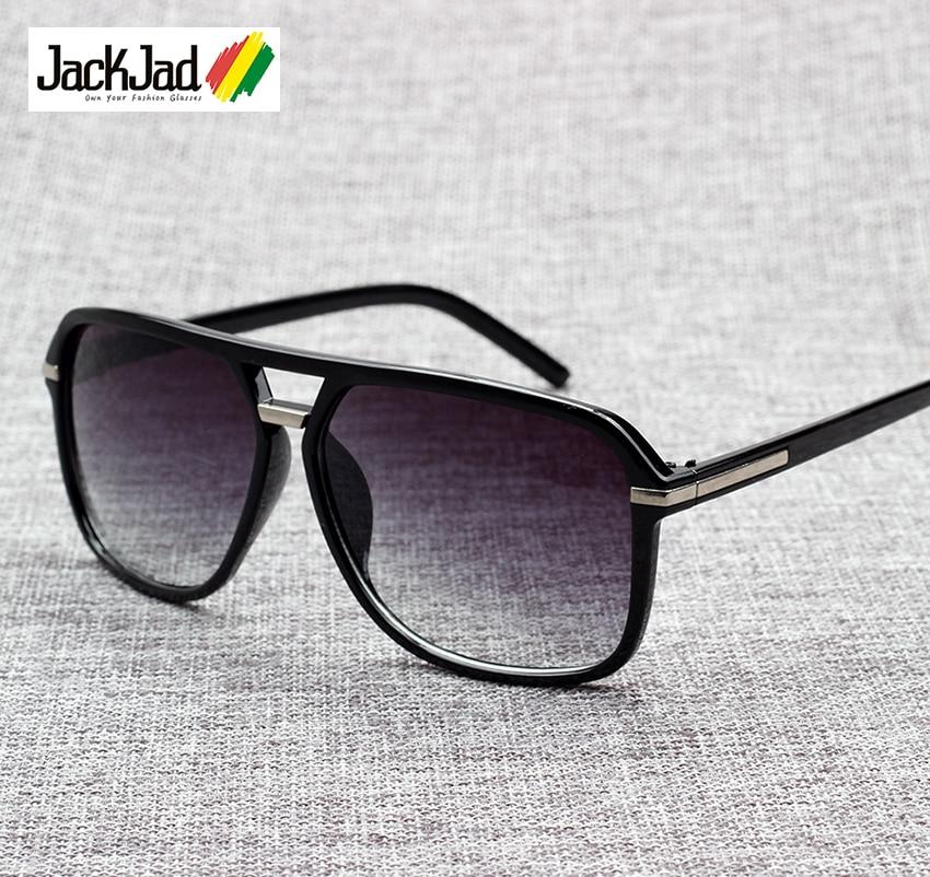 JackJad 2019 Fashion Men Cool Square Style Gradient Sunglasses Driving Vintage Brand Design Cheap Sun Glasses Oculos De Sol 1155