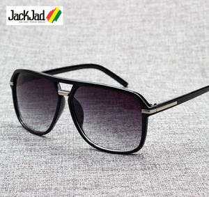 JackJad 2019 Fashion Men Cool Square Style Gradient Sunglasses Driving Vintage Brand Design Cheap Sun Glasses Oculos De Sol 1155(China)