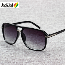 JackJad 2019 Fashion Men Cool Square Style Gradient Sunglasses Driving Vintage B