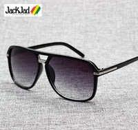 JackJad 2019 mode hommes Cool carré Style dégradé lunettes De soleil conduite Vintage marque Design pas cher lunettes De soleil Oculos De Sol 1155