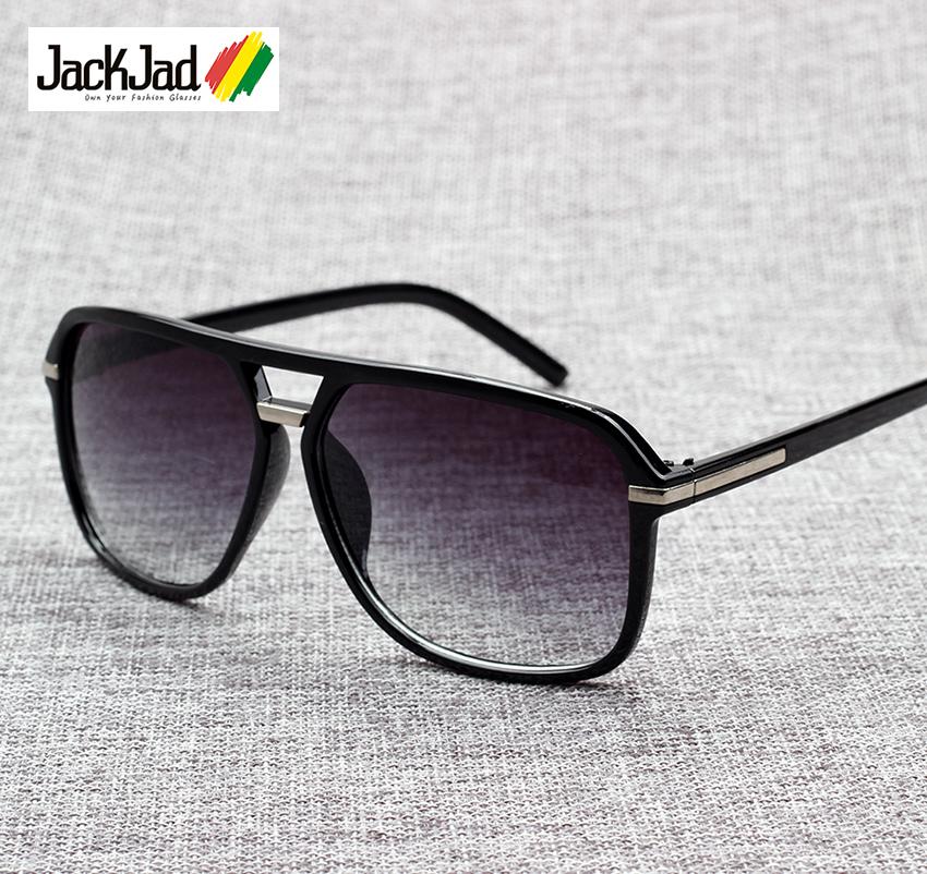 JackJad 2020 Fashion Men Cool Square Style Gradient Sunglasses Driving Vintage Brand Design Cheap Sun Glasses Oculos De Sol 1155