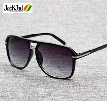 JackJad – lunettes De soleil pour hommes, verres solaires, Style carré, dégradé, Vintage, Design De marque, bon marché, 2020, 1155