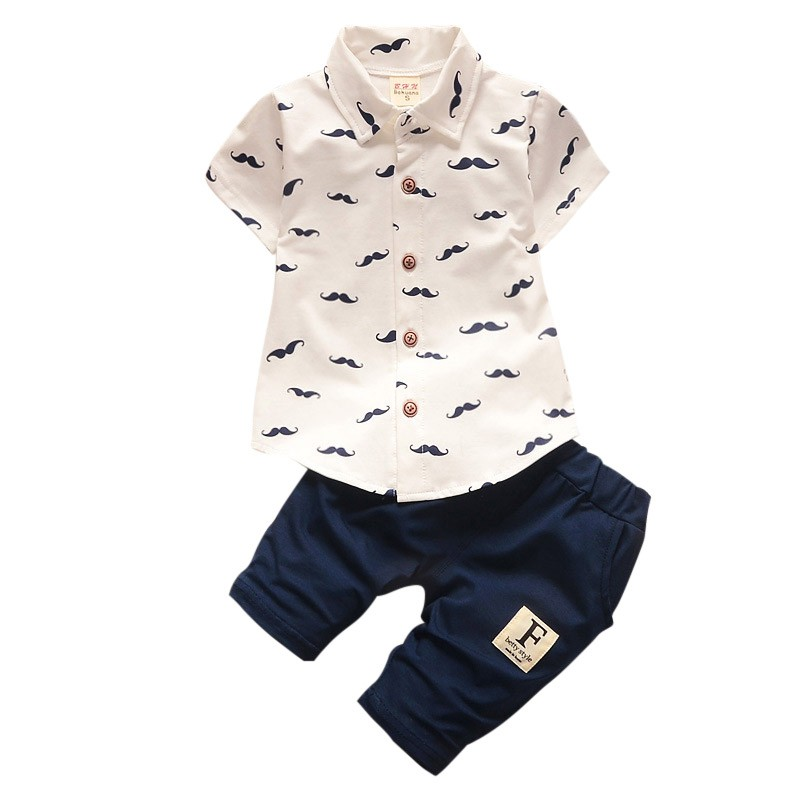 Baby Boy Clothing Sets Bebe Fashion T-shirt+Solid Pants Set Summer Kid Outfit Toddler Children Cotton Tracksuit Clothes цена