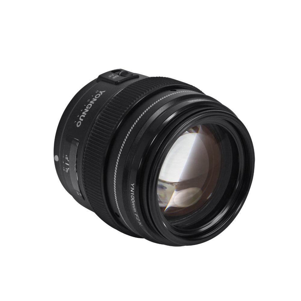 Yongnuo 100mm F2 Lentille Grande Ouverture AF/MF Moyen Téléobjectif à Focale fixe Len YN100mm Pour Nikon D7200 D7100 D7000 d5600