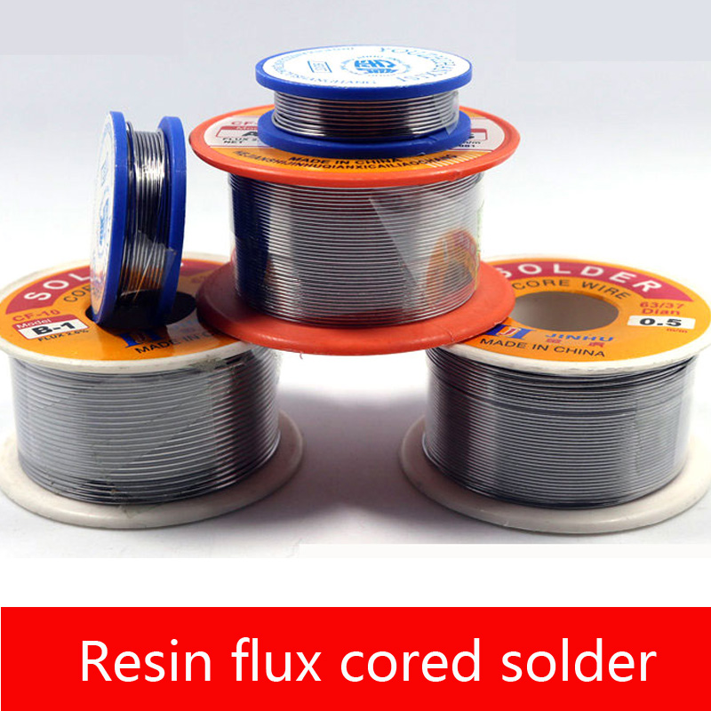 Rosin core soldering wire 0.8mm solder soldering iron welding with lead/lead-free 0.5mm free of washing