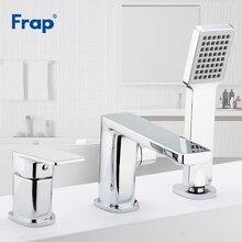 Frap из трех предметов ванной кран для ванной комнаты душа смеситель для ванной комнаты Водопад раковина для ванны смеситель для воды смеситель для горячей и холодной воды F1134/F1146