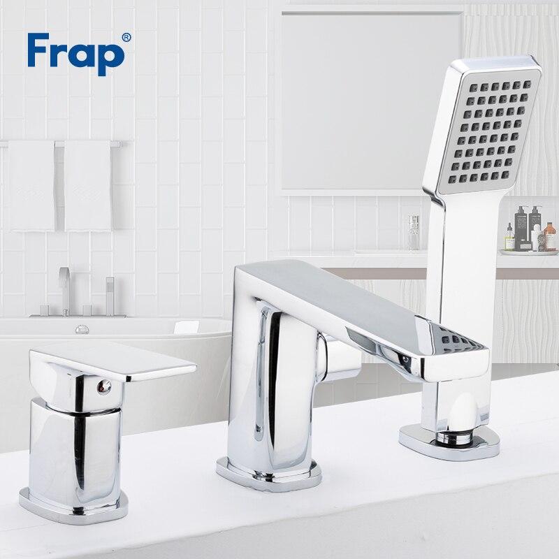 Frap trois pièces robinet de baignoire salle de bains douche robinet bain douche ensemble cascade bain évier robinet mitigeur d'eau robinets F1134/F1146