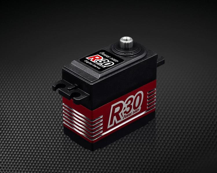 Oyuncaklar ve Hobi Ürünleri'ten Parçalar ve Aksesuarlar'de Güç HD R30 30KG Yüksek Gerilim 6.0 7.4V Dijital Servo RC Arabalar 1:8 1:10 Rc Sürüklenme'da  Grup 2