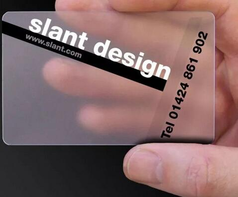 Custom business card printing/ plastic transparent pvc card print