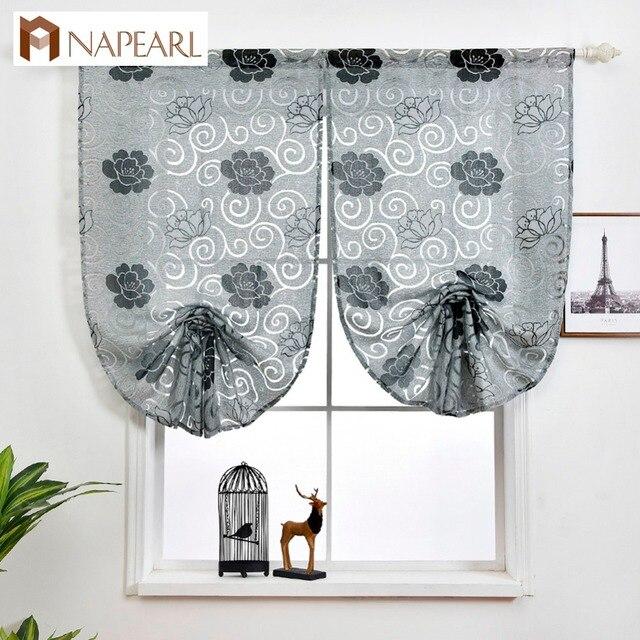 Breve tenda romano cucina moderna piccola finestra tenda di portello tessuti jac