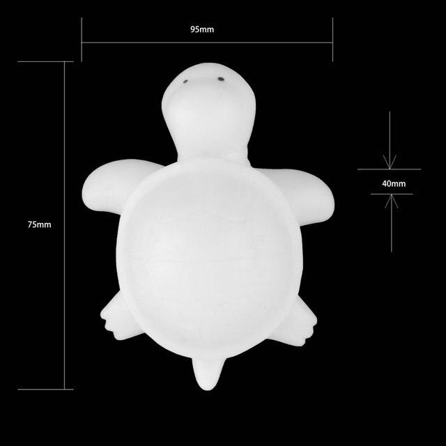 Novelty Cute Off White Multi Color Change Led Light Turtle Mood Lamp