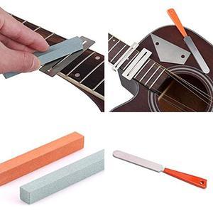 Image 2 - מקצועי גיטרה לדאוג שחיף Luthier תיקון טיפול כלי ערכת טחינת אבן סריגים אגוז קובץ מגן גיטרה אבזרים