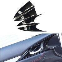 4 Pcs Set Car Door Handle Bowl Cover Frame Interior Decoration ABS Chrome Trim For Honda