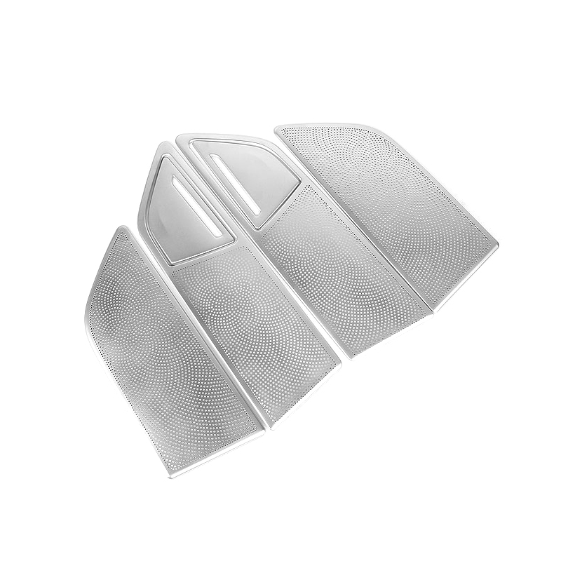 Stainless STEEL  Car-Styling  Accessories Interior Car Door Speaker Cover Trim  6pcs for BMW 7 series G11/G12  2016 2017 2018 2pcs abs car interior accessories center control side strip cover trim for land rover lr4 discovery 4 2013 2016 car styling