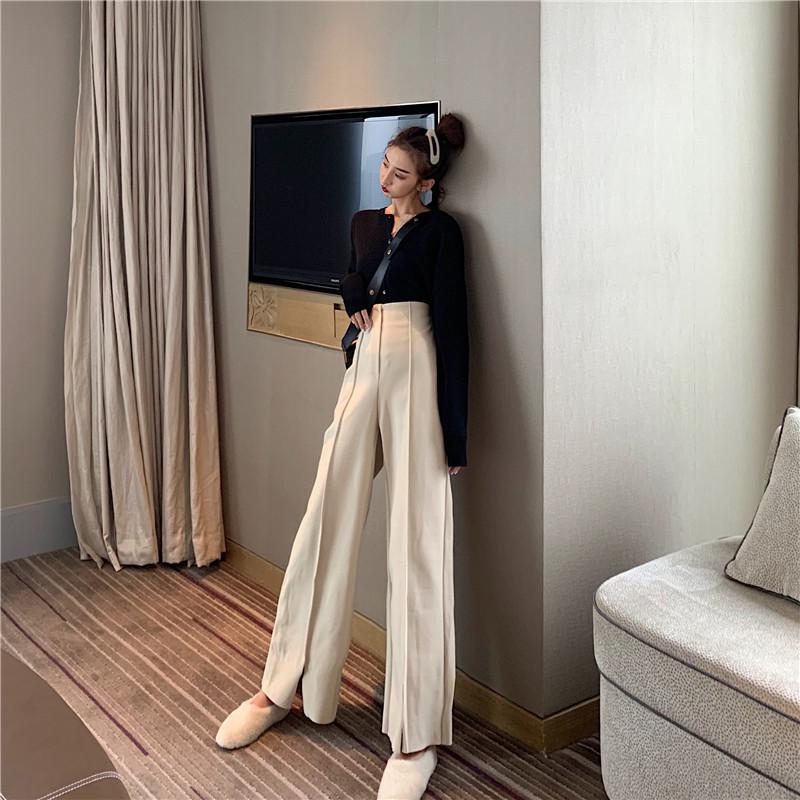 Women's Pants Elegant Style Plaid Pants for Women Autumn Casual Loose Elastic Waist Trousers Harajuku Female Ankle-Length ZT1954 9