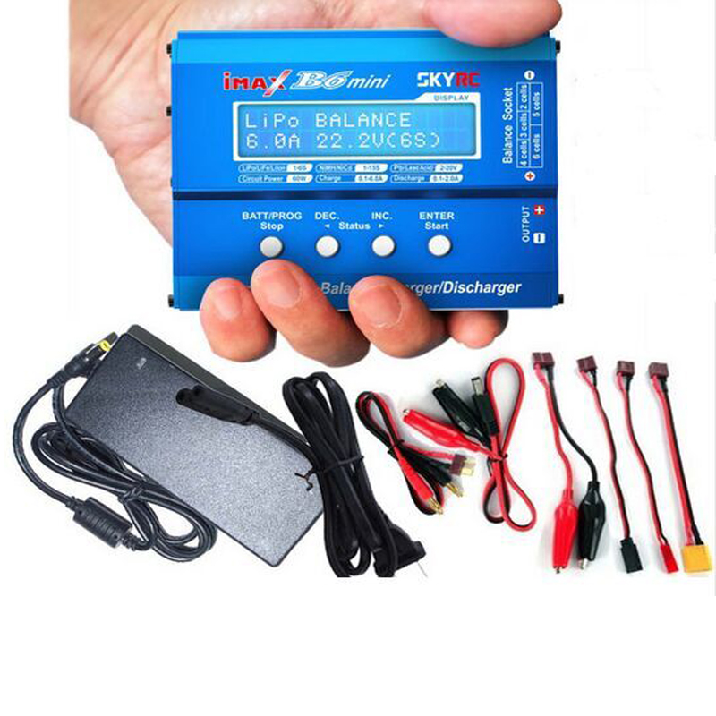 Free Shipping Original Skyrc Imax B6 Mini 60W Professional Balance Charger Discharger Lipo Charger With AC POWER 12v 5A Adapter-in Parts & Accessories from Toys & Hobbies    1