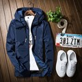 Hot Jacket Men Bomber Thin Slim Long Sleeve Spring Autumn Solid Jackets Hooded 2017 Korean Style Army Brand Clothing