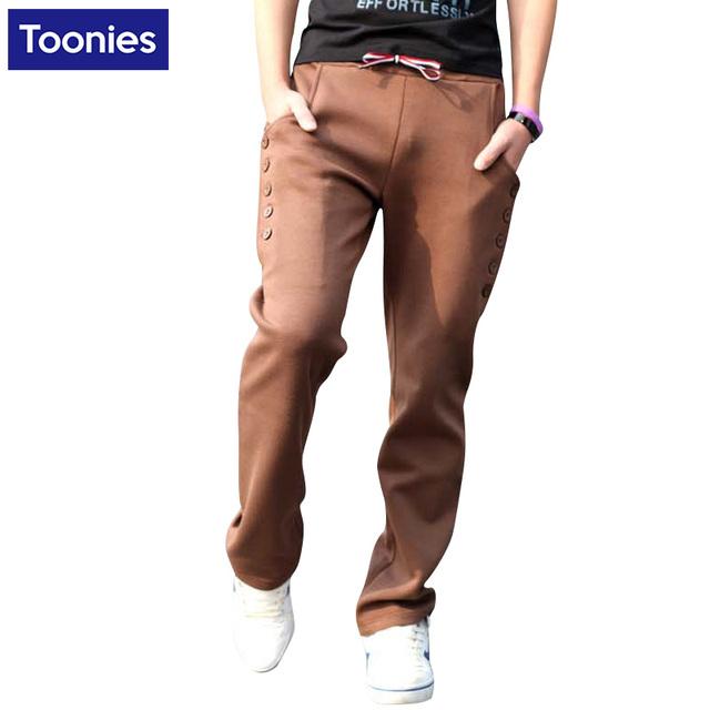 Sportpants Casual Roupas de Marca Sportwear dos homens Calças Calças Dos Homens Multi Bolso Ao Ar Livre Outono Inverno 2017 Novo M-3XL Plus Size