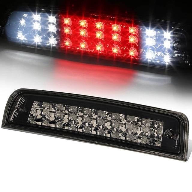 Black Car Rear Tail Third Brake Light Assembly LED High Mount Brake Stop  Warning Lamp Set