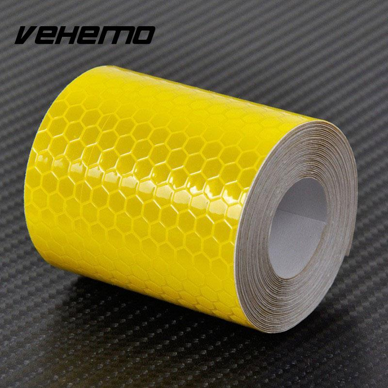 VEHEMO 5cmx3m Safety Mark Reflective tape stickers car-styling Self Adhesive Warning Tape Automobiles Motorcycle Reflective Film