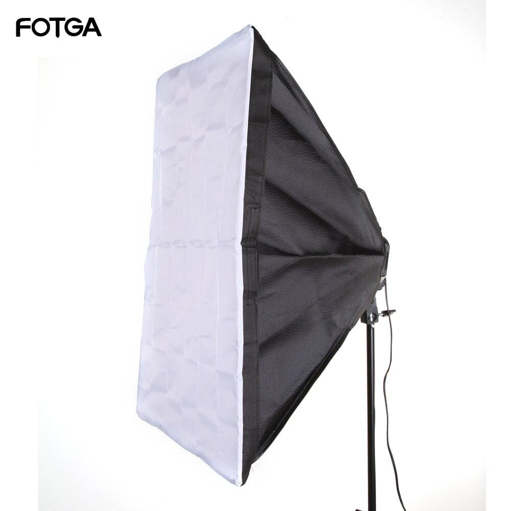 """FOTGA 60x90 cm 24x35 """"Softbox Studio photographie pour 5 en 1 douille E27 ampoule de lampe"""