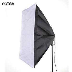 "Image 1 - FOTGA 60x90cm 24x35 ""Softbox stüdyosu 5 in 1 soket E27 ışık lamba ampulü"