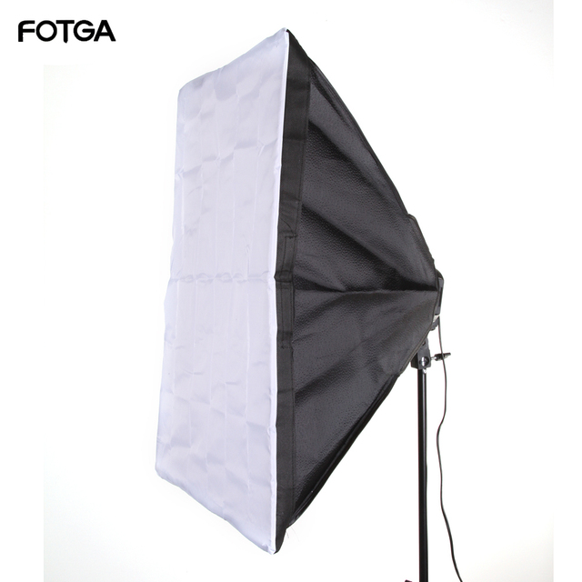 "FOTGA 60x90cm 24x35 ""Softbox stüdyosu 5 in 1 soket E27 ışık lamba ampulü"
