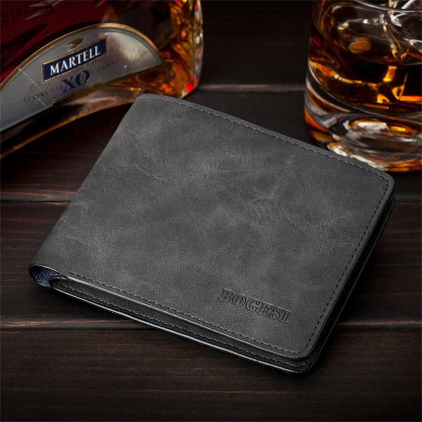 PU Men Wallets Man Credit Card Holder Zipper Coin Pocket Brand Purse Fashion Style