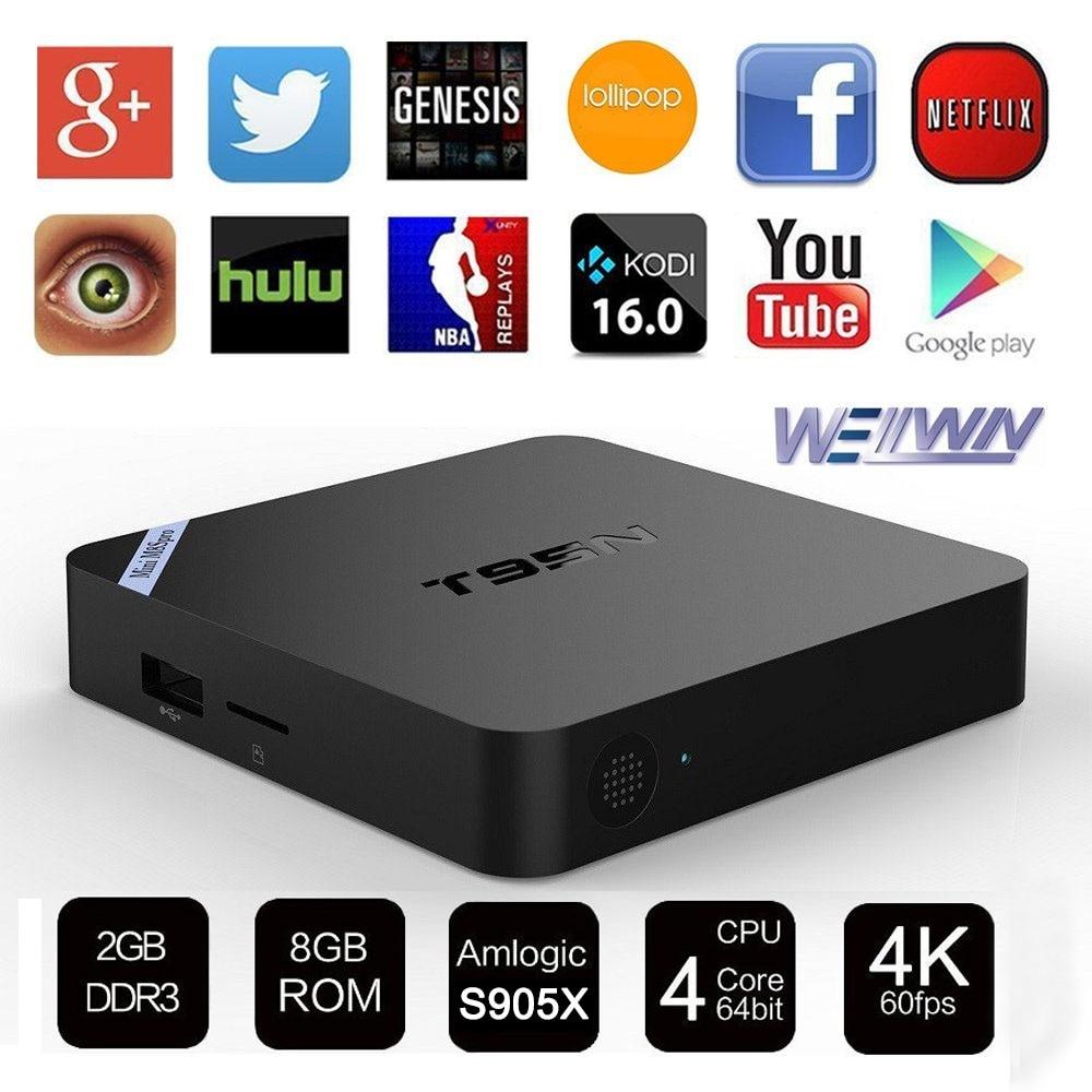 Mini T95N M8S Pro Wifi Smart font b TV b font Box Amlogic S905X 2G 8G
