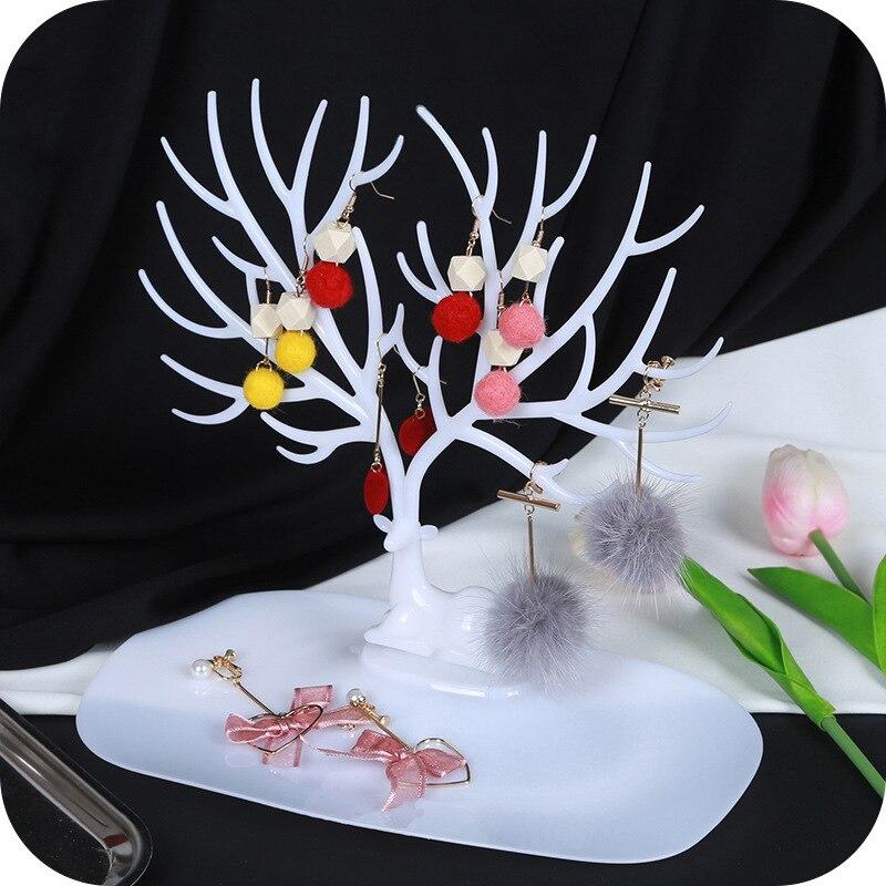 Творческий Европейский Стиль олененок Jewelry Дисплей стеллаж для хранения рога хранения ветка для ключевых серьги косметические лоток полки