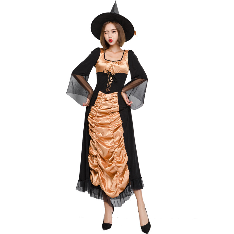 2017 new Adult Witch Costume temperament Womens Magic Moment Costume Adult sexy witch cosplay costumes for halloween party dress