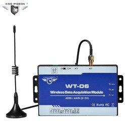 اللاسلكية  433Mhz ورا وحدة اكتساب البيانات يدعم 4 مدخلات تناظرية (0 ~ 5 V) و 4 المدخلات الرقمية 3 إلى 5 كجم Modbus RTU الرقيق WT-06