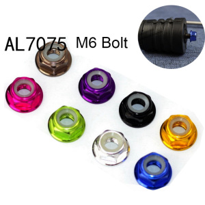 ultralight 1.0g M6 Bolt for Brompton Bike Rear Shock 8 Colors Aluminum Alloy