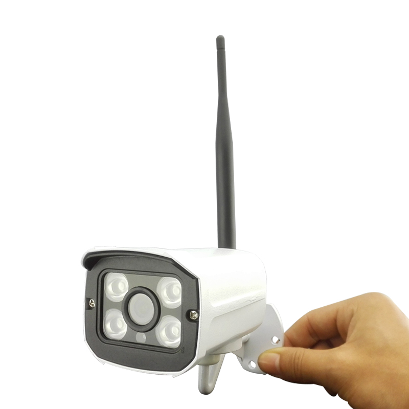 P2P HD 720P Card WIFI Wireless IP Camera Outdoor CCTV Network Onvif 4 IR Night Vision ONVIF H.264 hjt hd 720p micro sd card wireless wifi ip camera ir night vision surveillance cctv outdoor network p2p onvif remote view h 264