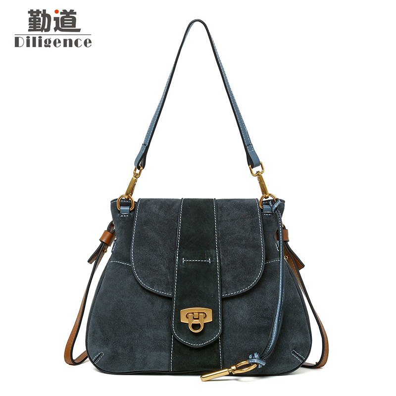 купить Genuine Leather Shoulder Bags For Women Vintage Handbags Fashion Famous Luxury Brand Designer Style Crossbody Messenger Bag недорого