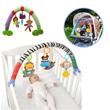 SOZZY Baby Hanging Toys Stroller Bed Crib For Tots Cots rattles seat plush Stroller Mobile Gifts animals Zebra Rattles(China)