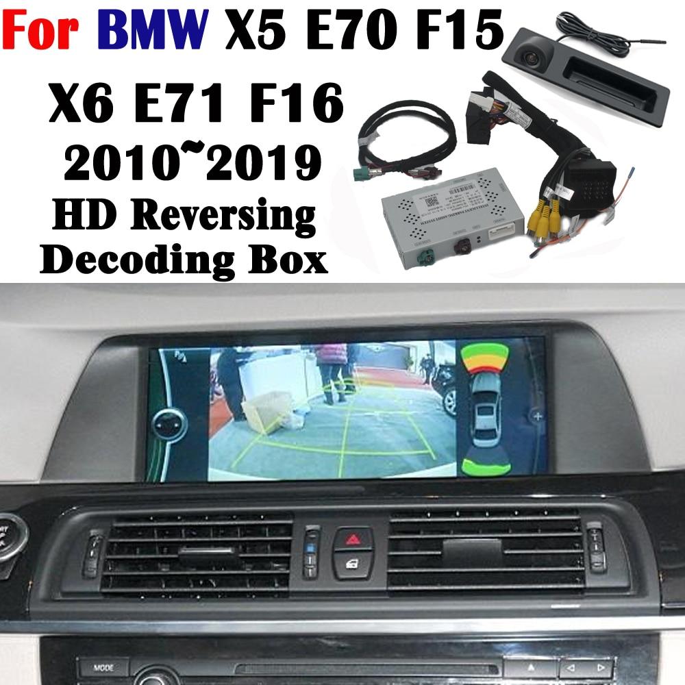 Rear Camera For BMW X5 E70 F15 X6 E71 F16 2010~2019 Interface Original Screen Display Upgrading Parking Camera Decoder Model