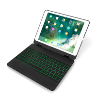 witsp@d Backlight Keyboard Case for New iPad 9.7 2017& 2018, Matte Rubber Feel Smart Folio Hard Back Slim Shell Cover