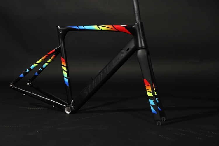 Road Bike Frame 2018 R8000 and MARS Super Light alloy road Frame Carbon Fork headset racing bicycle frame in Bicycle Frame from Sports Entertainment