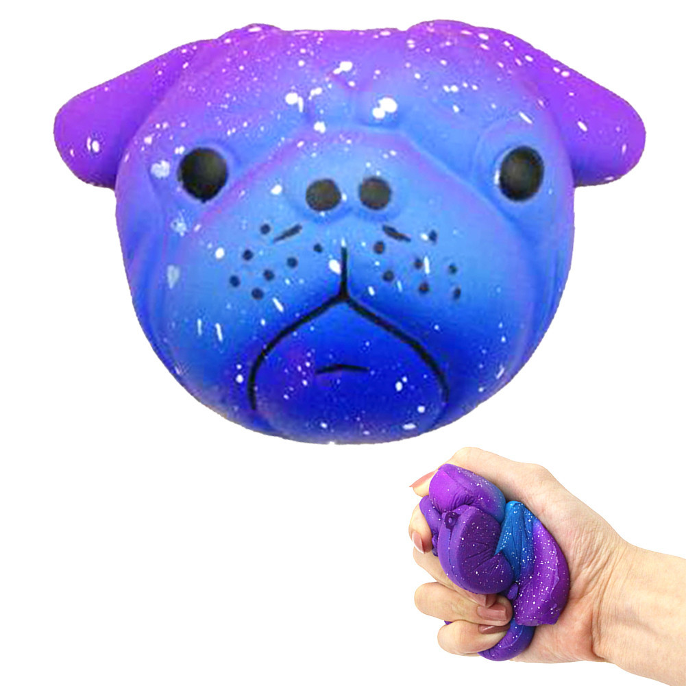 Squishy Exquisite Fun Galaxy Crazy Dog Scented Charm Squeeze Slow Rising Fun Toy Stress Reliever toys 8cm Simulation Kid Toy