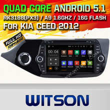 WITSON Android 5.1 Quad Core CAR DVD for  KIA CEED 2013 GPS AUTO RADIO STEREO +1024X600 SCREEN+DVR/WIFI/3G+DSP+RDS+16GB flash