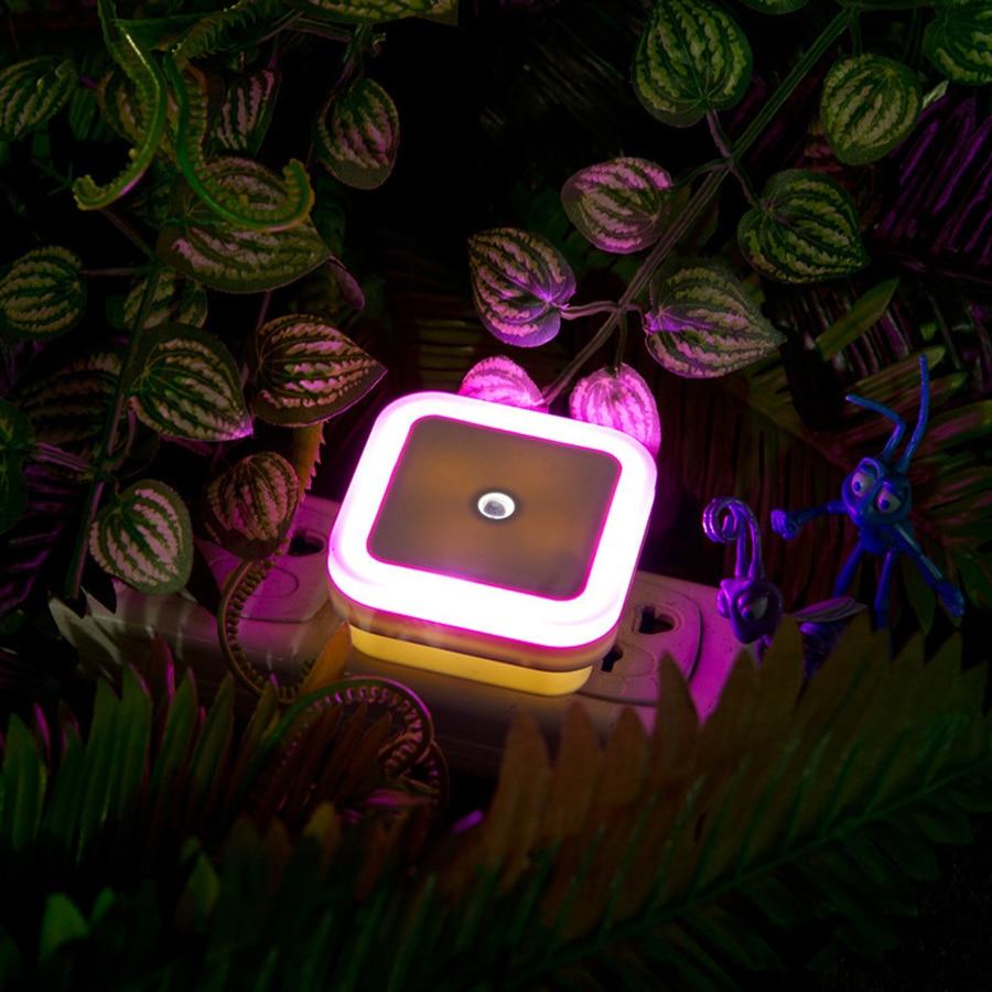 1Pcs Mini Auto Sensor Smart LED Luces nocturnas AC110V-240V Luz de - Luces nocturnas - foto 4