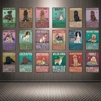 [Mike86] собаки валлийский корги и борзый оловянный знак на заказ плакат личность Классический Металл живопись Декор Искусство YY-25