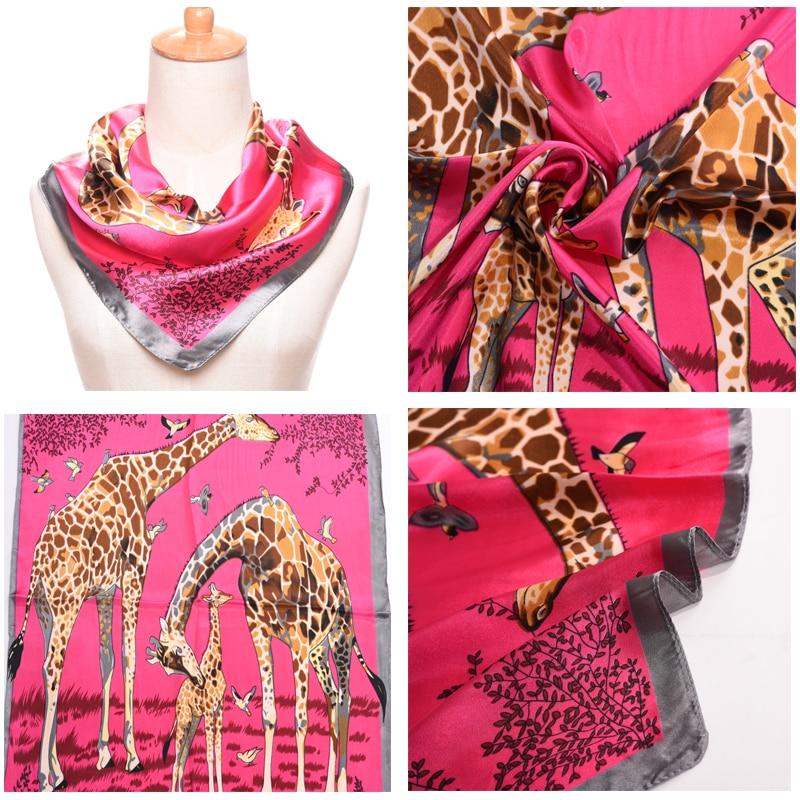 2018 New Silk Satin Surface All Match Printing Bandana Small Square Silk Scarf Women Scarves 60*60cm