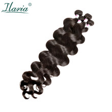 Ilaria Natural Hair 30 Inch 32 34 36 38 Inch 40 Inch Bundles Peruvian Virgin Hair Body Wave Human Hair Weave Bundle 1 / 3 / 4 PC(China)