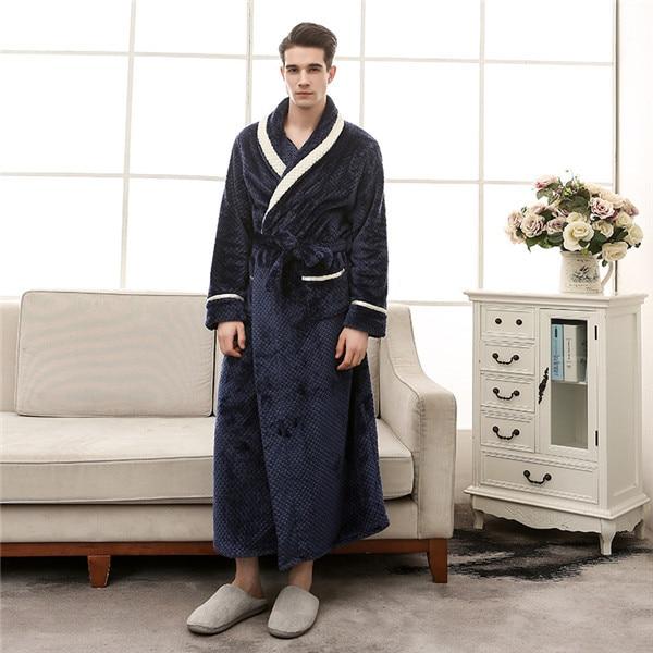Women Winter Thick Warm Coral Fleece Kimono Bathrobe Gown Robe Dress Lovers Yukata Nightwear Pijama Sleepwear Plus Size XXXL