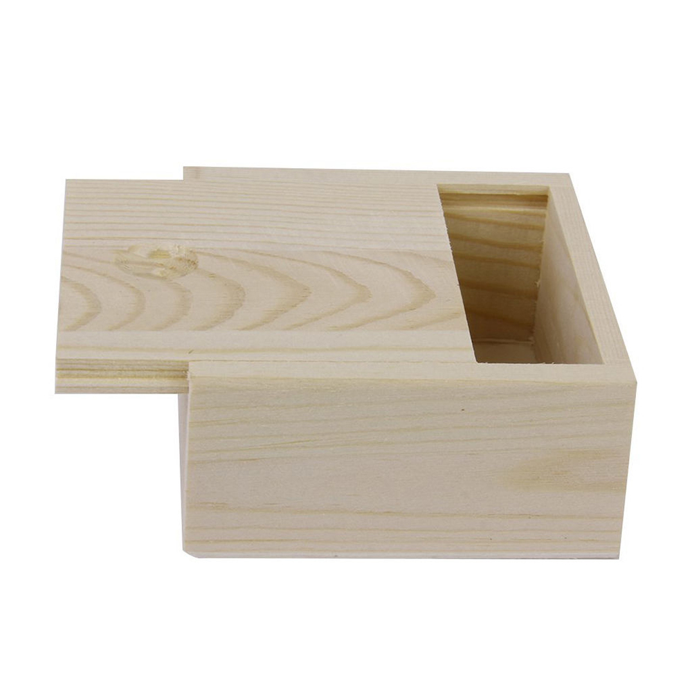 8.4x8.4x5cm Square Fine Amall Wooden Storage Box Jewelry Storage Boxes Wood Gift Cosmetic Earrings Desk Rangement Organizers
